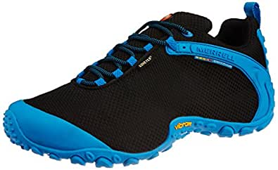 Merrell Men's Chameleon II Storm Gore-Tex Black and Blue Oj Canvas Running Shoes - 8.5 UK