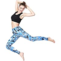 Hukangyu1231 Pantalones de Yoga de Bolsillo de Cintura Alta. Ej Pantalones de Yoga Otoño e Invierno Deportes Camuflaje Impresión Yoga Pantalones Pantalones de Fitness (tamaño : L)