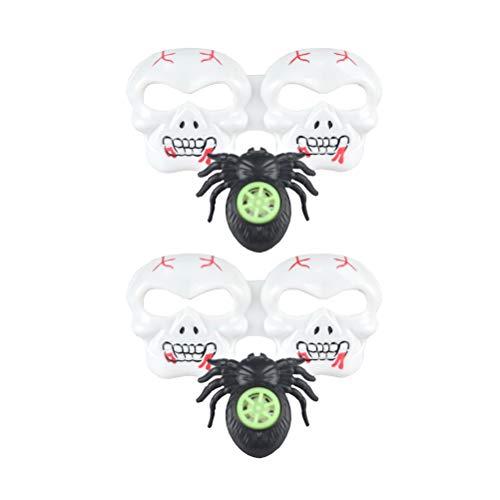 Kostüm Whistle - AMOSFUN Halloween Schädel Brillen Spider Whistle Lustige Cosplay Brillen Zubehör Brillen Dekoration Mitbringsel Foto Prop für Kinder Cosplay Maskerade Zubehör