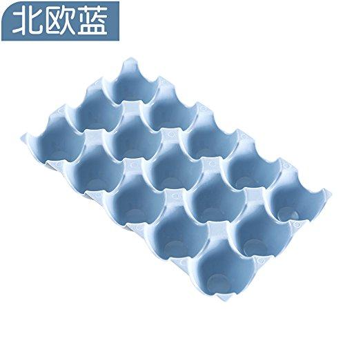 ShouYu Gruppe von 2 dicken Kunststoff Stapelbar 15 format Eier zugeben, dass die A816 Kühlschrank bruchsichere Box - Ente - ei ei Fach, der Nordischen Blau (Ente-ei-boxen)