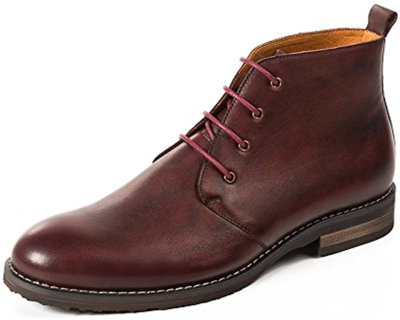 Otoño Zapatos Zapatos Altos Zapatos De Encaje Botas Martin Casual Botas De Cuero  -