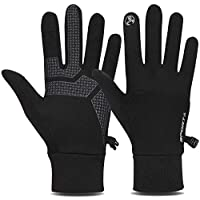 TOLEMI Thermal Gloves, Winter Gloves Running Warm Liner Gloves Anti-slip Touch Screen Gloves for Men Women Sport Walking Riding Driving Cycling