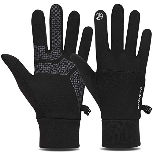 TOLEMI Thermal Gloves, Winter Gloves Running Warm Liner Gloves Anti-slip Touch Screen Gloves for Men...