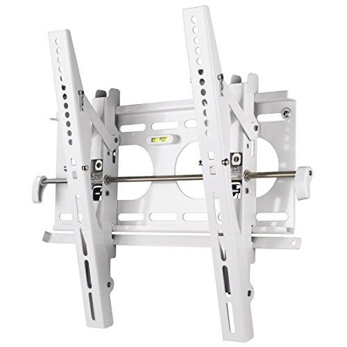 Hama TV-Wandhalterung Motion, neigbar, für 81 - 107 cm Diagonale (32 - 42 Zoll), max. 50 kg, VESA bis 400 x 400, Wandabstand 4,2 cm, weiß (Weiße Wandhalterung Tv Stand)
