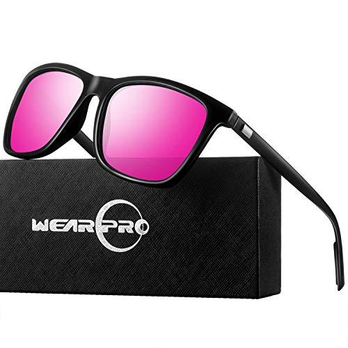 wearpro Sonnenbrille Mens Retro Vintage Polarisierte Sonnenbrille WP1003 (Rosa, 2.16)