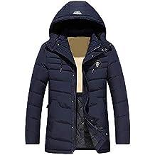 2ca3037b70e9 Homme Doudoune à Capuche Noir,Overdose Soldes Hiver Manteaux Veste Longue  Hoodie Jacket Casual Coat