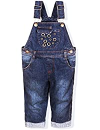 112055d70 Baby Dungarees - Denim Jeans Toddler Boys Girls Trousers Bib Overalls  Jumpsuit