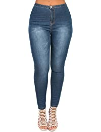 Women's Ladies Stunning Denim Fitted Stretch Fit Casual Jeans