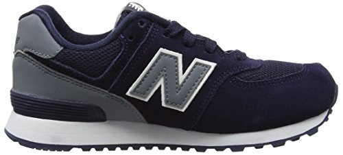 New Balance Unisex-Kinder 574 High Visibility Sneakers Blau (Navy)
