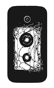 Back Cover for Moto E (1st Gen) Abstract cassette