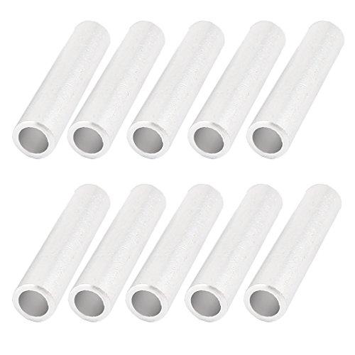 Sourcingmap® 10 Stück Alu-Rohr Inline Gerades Kabel-Adapter (92 mm de -