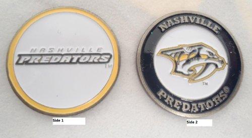 Golf de equipo Nashville Predators marcador de bola de doble cara