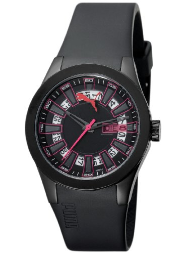 Puma Time Women's Quartz Watch Fan Ladies Black PU102402004 with Rubber Strap