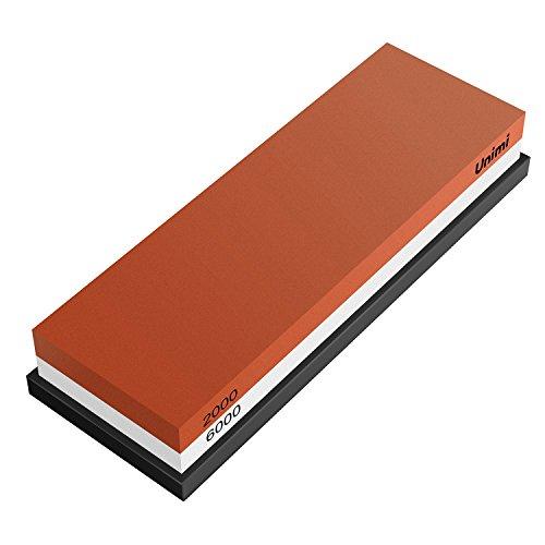 Schleifstein, Unimi 2000/6000 Abziehstein Wetzstein für Messer,Schleifstein Messer für langanhaltende Schärfe mit rutschfestem Silikonhalter