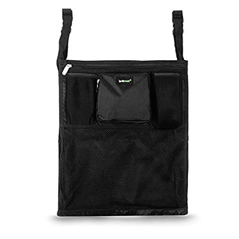 Lavievert Universal Stroller Organiser Diaper Bag Stroller Accessories Pack with Drink Holders and Zipped Pockets Can Be Used As an Attachment For Car, Shopping Cart or Bike While Travelling or Outings