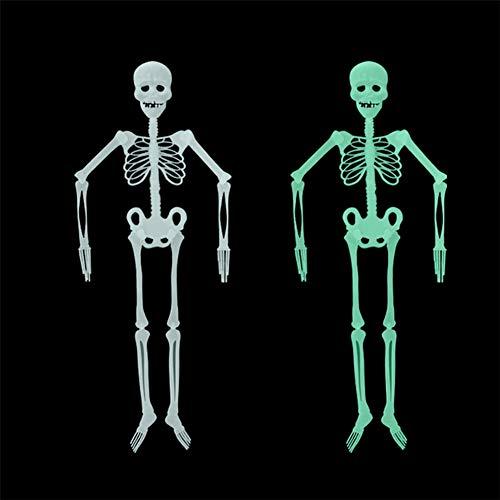 BONNIO 20cm/90cm/150cm Halloween Leuchtendes Schädel-Skelett-Spielzeug,Das Skeleton Halloween-Dekoration hängt