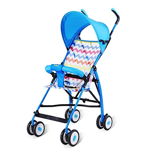 CFHJN Home Kinderwagen-Trolley Ultraleicht Tragbare Sommer Mesh Kissen Reise Faltbare Schaum Stoßschutz Rad Kinderwagen 46 * 66 * 100 cm (Color : 1)