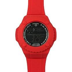 Wize &Ope-GUM 3-Gummy Unisex-Armbanduhr, Digital Quarz analog Silikon Rot