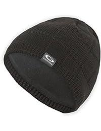 Gwinner Strickmütze warme Wintermütze mit Merinowolle R6, schwarz