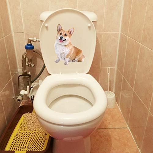 WYLYSD Toilettendeckel Aufkleber15.5 X 20.4 cm Haustier Hund Corky Home Room Wandtattoos Dekoration Lustige Wc Aufkleber T1-0292