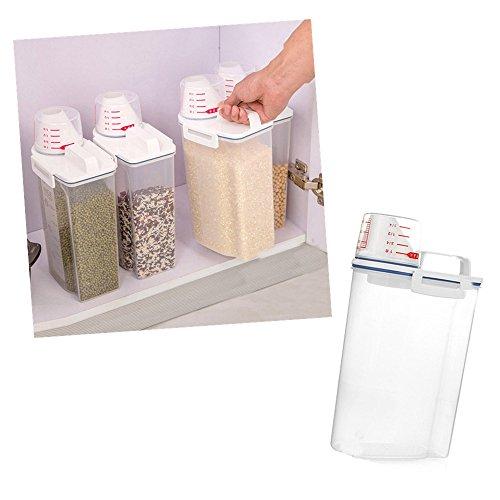 YA-Uzeun Müslispender, 2 l, Kunststoff, Aufbewahrungsbox für Küche, Essen, Getreide, Reisbehälter