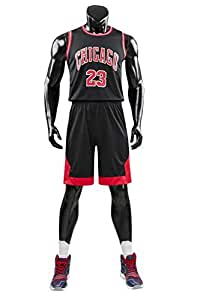 Angel ZYJ Ragazzi Ragazze Chicago Bulls Jordan 23 Pantaloncini da Basketball Jersey Set di Abbigliamento Sportivo Maglie Top e Shorts