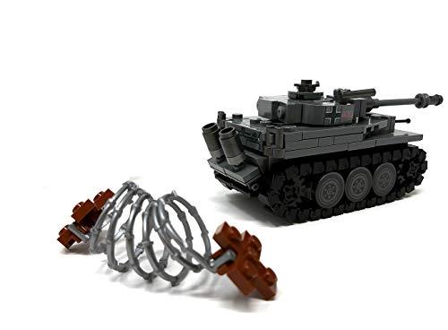 Modbrix 2487 – ☠ Bausteine Tiger Panzer XX Panzerdivison inkl. Custom Elite Wehrmacht Soldaten aus Lego© Teilen ☠ - 3