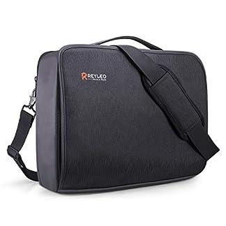 41pDKOi1RUL. SS324  - REYLEO Maletín para Portátil 15.6 Pulgadas Impermeable Bolsa de Portátil de Negocios Bandolera de Viaje con Correa de Equipaje para Hombres Mujeres para MacBook HP DELL Lenovo Notebook Tableta, Negro