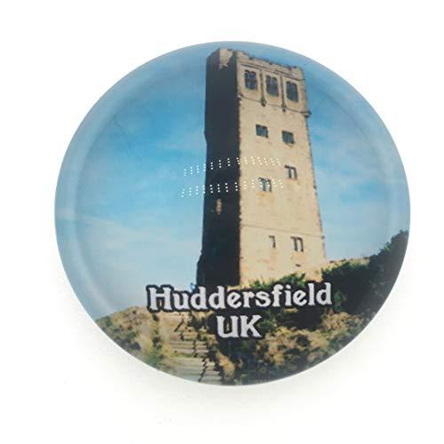 Castle Hill Huddersfield Yorkshire UK Kühlschrankmagnet 3D Kristallglas Tourist City Travel Souvenir Collection Geschenk Stark Kühlschrank Aufkleber