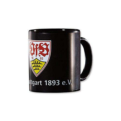 Preisvergleich Produktbild VfB Stuttgart ZAUBERTASSE 0, 33 l (wechselt die Farbe von Schwarz in das Stadion Design wenn sie mit heißer Flüssigkeit befüllt wird) Geschenkidee FANARTIKEL
