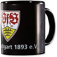 VfB Stuttgart ZAUBERTASSE 0,33 l (wechselt die Farbe von Schwarz in das Stadion Design wenn sie mit heißer Flüssigkeit befüllt wird) Geschenkidee FANARTIKEL
