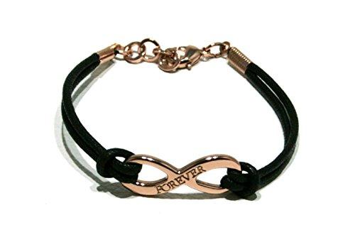 bracciale-cordino-cotone-cerato-nero-con-centrale-infinito-con-scritta-forever-galvanica-oro-rosa