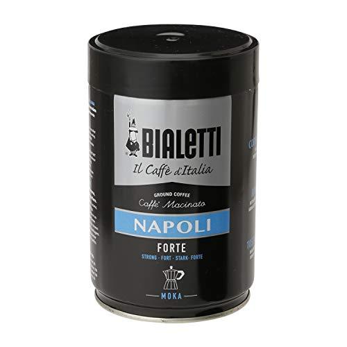 Bialetti 96080114 Napoli, Kaffee, Schwarz, Silber