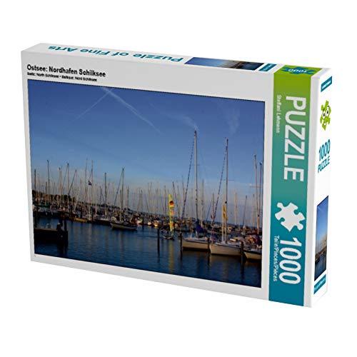 CALVENDO Puzzle Ostsee: Nordhafen Schilksee 1000 Teile Lege-Größe 64 x 48 cm Foto-Puzzle Bild von Steffani Lehmann