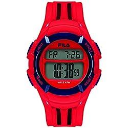 Fila Unisex Watch Digital Quartz 38048102Fila Casual Red Plastic