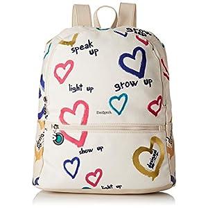 Desigual – Bag Natural Message Novara Women Desigual, Bolsos mochila Mujer, Blanco (Crudo), 12×35.3×28.7 cm (B x H T)