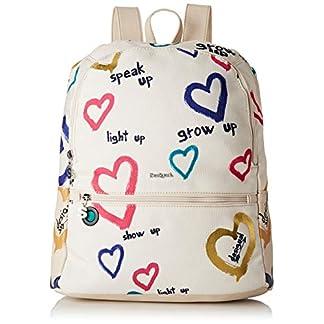 Desigual – Bag Natural Message Novara Women, Bolsos mochila Mujer, Blanco (Crudo), 12×35.3×28.7 cm (B x H T)