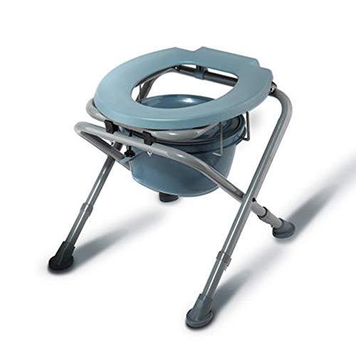 NBRTT Kommode Chair Wc faltbar und höhenverstellbar mit Top Loading Leicht entfernbare Pot Folding Lightweight Perfect Adjustable Black Brown Toilet