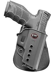 Fobus nouveau dissimulé pistolet report rétention étui Holster pour Heckler et Koch H&K VP9, USP Full Size, USP9 Expert, P8 / Walther PPQ 9mm, PPQ M2 9mm & .40cal / Taurus Millenium PT111 G2 polymère noir
