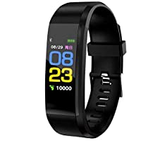 ID115 PLUS Color Screen Sports Wristband Heart Rate Monitor Pedometer Smart Band