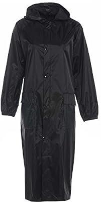 Mens Womens Long Waterproof Trenchcoat Cagoule Raincoat Kagool Kag Mac Jacket