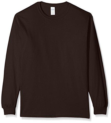 Chocolate Brown T-shirt (Gildan Herren T-Shirt Ultra Cotton L/Sleeve Tee, Brown (Dark Chocolate), XL)