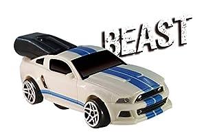Whistle Racer WR1BTBC2 - Coche de Juguete para Bestia, Color Blanco