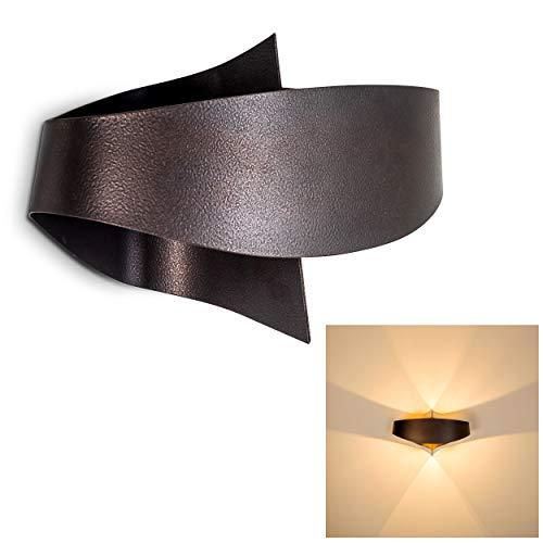 Wandlampe Padua aus Metall in Bronze/Braun, moderne Wandleuchte mit Up & Down-Effekt, 2 x G9 max. 33 Watt, Innenwandleuchte mit Lichteffekt, geeignet für LED Leuchtmittel