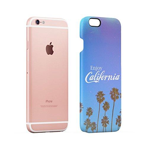 Under California Sun Summer Beach Palms Good Vibes Tumblr Dünne Rückschale aus Hartplastik für iPhone 7 Plus & iPhone 8 Plus Handy Hülle Schutzhülle Slim Fit Case cover Enjoy California