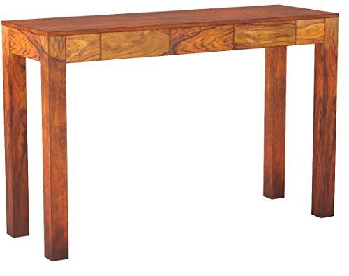 vidaXL Massivholz Sheesham Konsolentisch 80 cm Konsole Beistelltisch Flurtisch