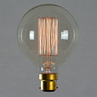 Vintage Edison Light Bulb 60w - Squirrel Cage Globe 80mm B22 BC Dimmable - The Retro Boutique ®