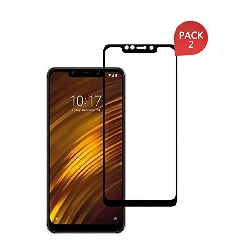 MSOSA für Xiaomi Redmi Poco F1/Pocophone F1 Panzerglas,Schutzfolie, Bildschirmschutzglas für Xiaomi Redmi Poco F1/Pocophone F1 Schutzglas Folie [Ultra-klar] [9H Härte] [Bubble Free]-Schwarz