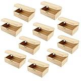 Holztruhe, 10 Stück, mit gewölbtem Deckel und Metall-Klappverschluß. PREISHIT
