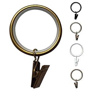 Vorhangringe Leise Clip Ringe Ø35 - 10 Stück (Antik-Messing)